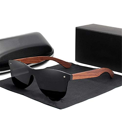 ANSKT Holzsonnenbrille Herren Polarized Fashion Sonnenbrille Holz New-Black_bubinga_Wood