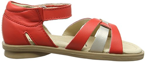Old Soles Clarise, Sandales Compensées fille Multicolore - Multicolor (Bright Red/Chalk)