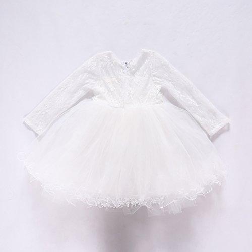 mädchen kleid spitzen prinzessinnenkleid und der wind.,weiße,120 (Wind Kostüm Fee)