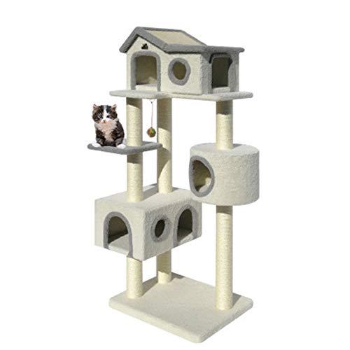 LDPB Katzenturm, Big Plush Cat Rest Activity Center, geeignet für alle Arten von Katzen 60x50x155cm
