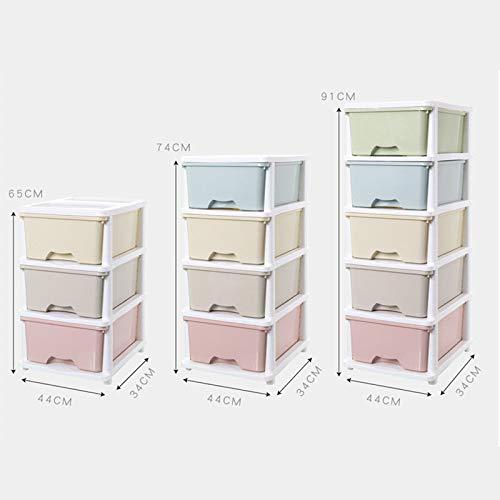 Aufbewahrungsbox Mehrschichtboden Schubladen wasserdicht Multifunktions Aufbewahrungsbox Kosmetik Aufbewahrungsbox Spielzeug Aufbewahrungsschrank Farbe gemischt 91x44x34cm -