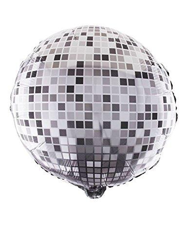 Das Kostümland Disco Kugel Folienballon - Luftballon Silber 46 cm - Dekoration für 70er 80er Jahre Party