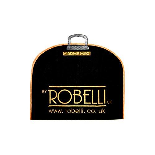 Robelli - Portatrajes de viaje negro 5 Pack