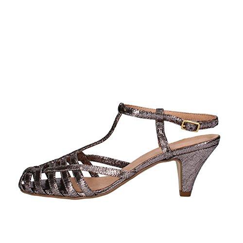 CARMENS sandali donna 35 EU argento tessuto camoscio AF652