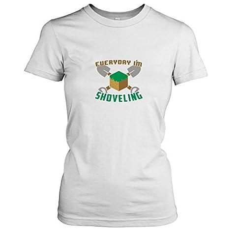 TEXLAB - Shoveling - Damen T-Shirt, Größe XL, weiß