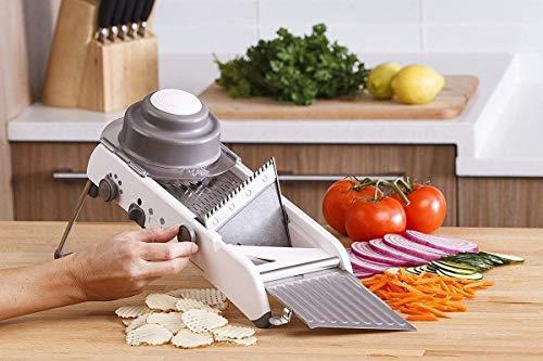 Piyuda Mandoline Adjustable Stainless Steel Multi-Function Vegetable Cutter Chopper Julienne Food Slicer