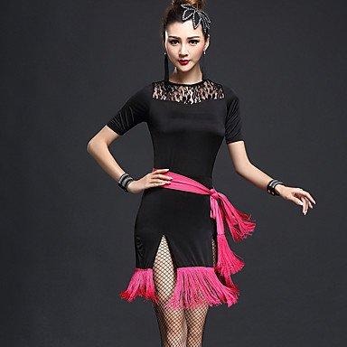 b70a1e767b6f Dancewear Balli Latino-Americani Abiti per Donna da esibizione Chinlon Nylon  Fiocco 2 Pezzi