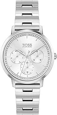 ساعة يد كوارتز وشاشة عرض انالوج للنساء مع سوار ستانلس ستيل من هوغو بوس- 1502570