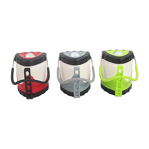 TENGGO Camping Portable Einziehbare Hand Lampe USB Wiederaufladbare 3 Modi LED Laternenlicht-Grau