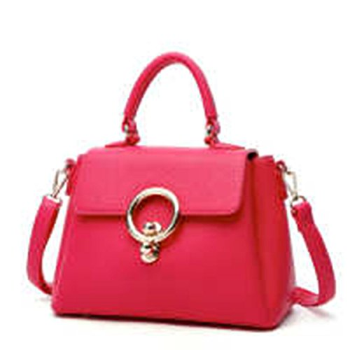 WU Zhi Lady In Pelle Borse Pacchetto Diagonale RoseRed