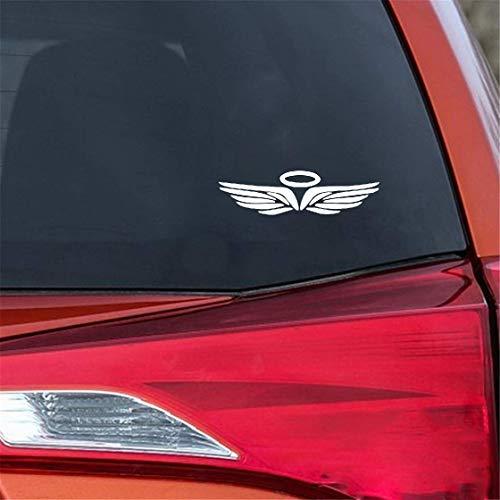 Cars Aufkleber Auto 17,6X4,8 Cm Engel Halo Flügel Autofenster Aufkleber Stamm Dekoration Aufkleber für auto laptop fenster aufkleber