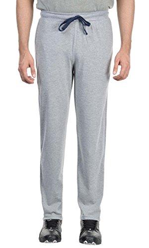 DFH Men's Cotton Track Pant (DFH-MP-LACE(BLUE)G-06-M, Grey, Medium)