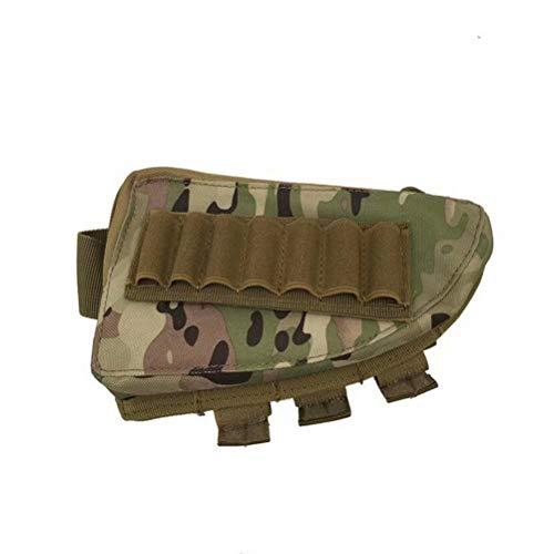 Tactical 20Jahren Shotgun Gewehr Lager Munition tragbar Tasche Shell Kartusche Halter Tasche Halter Cheek Rest Gun Tasche für Outdoor Militär Jagd-20cmx11.5cmx5cm Einheitsgröße Cp Camo -