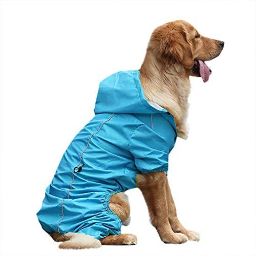 Hawkimin Pullover mops Golden Retriever Large Dog Mit Kapuze Beine Wasserdichter und regendichter (Hund Kostüme Mit Beinen)