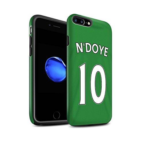 Officiel Sunderland AFC Coque / Matte Robuste Antichoc Etui pour Apple iPhone 7 Plus / Khazri Design / SAFC Maillot Extérieur 15/16 Collection N'Doye
