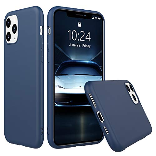 Peakally Funda iPhone 11 Pro, Carcasa Azul TPU Suave Funda para iPhone...