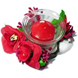 Strawberry Flavour Candle With Holder - Pack Of 6