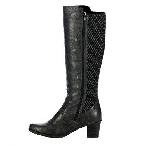 Rieker Z7695-45, Bottines Classiques Femme Gris (Graphit/Black)