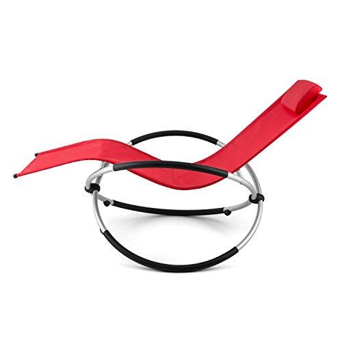 blumfeldt Chilly Billy ergonomische Relaxliege Liegestuhl Gartenstuhl Klappstuhl (Liege, 180 kg maximale Belastung, atmungsaktiv, witterungsbeständig, pflegeleicht, faltbar) rot - 5
