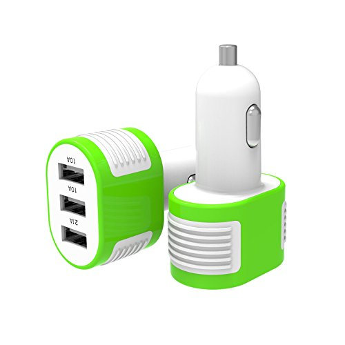 Cargador-de-Auto-tres-USB-41A-Salida-DC-5V-21A-1A-1A-para-iPhone-iPad-Tabletas-Telfonos-inteligentes-Samsung-Android-y-otros-Dispositivos-USB