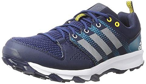 adidas Herren Galaxy Trail Laufschuhe, Blau (Collegiate Navy/Footwear White/Eqt Yellow),