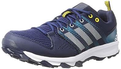 adidas Men's Galaxy M Trail Running Shoes, Blue (Collegiate Navy/footwear White/eqt Yellow), 7 UK