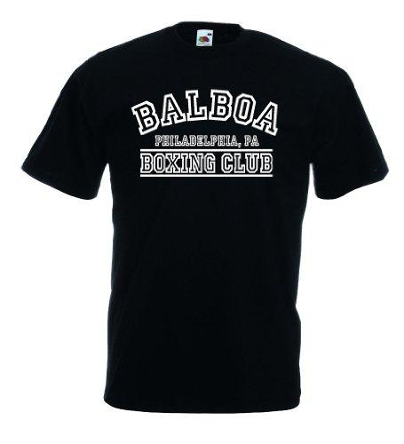 Fruit of the Loom Italia/Italien Herren T-Shirt Trikot Balboa Boxing Club|M
