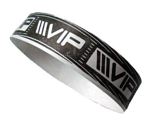 trollbänder 19 mm breit x 255 mm lang - VIP schwarz/weiß (Party-bänder)