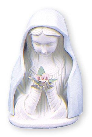 Virgen María estatua - 11,5 cm de cerámica porcelana azul y blanca Busto Estatua (3839) Madonna