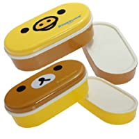 2 Tier Bento Lunch Box Sushi Fruits Container Case + Chopsticks Belt