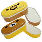2 Tier Bento Lunch Box Sushi Fruits Container Case + Chopsticks Belt by BestMall -
