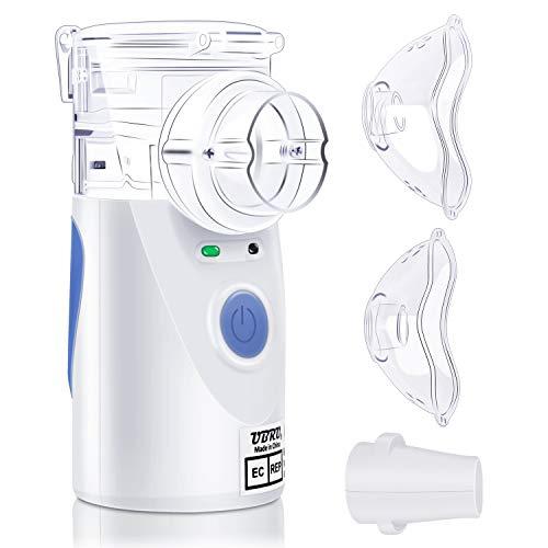 Inhalator Vernebler, UBRU tragbarer und kompakter Vernebler Set mit 2 Masken und Mundstück für Kinder und Erwaschsene...
