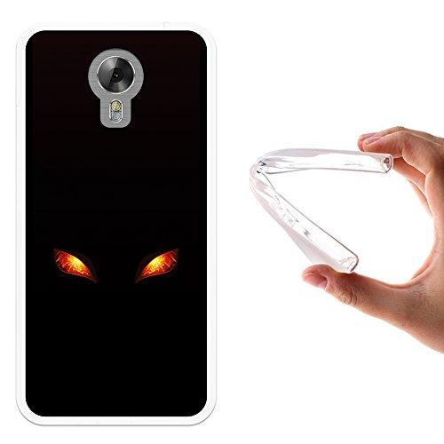 WoowCase Acer Liquid Z6 Plus Hülle, Handyhülle Silikon für [ Acer Liquid Z6 Plus ] Feueraugen Handytasche Handy Cover Case Schutzhülle Flexible TPU - Transparent