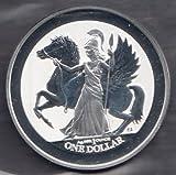 1 Unze Silber British Virgin Islands Pegasus Athena 2017 Silbermünze
