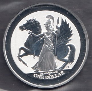 1 Unze Silber British Virgin Islands Pegasus Athena 2017 Silbermünze