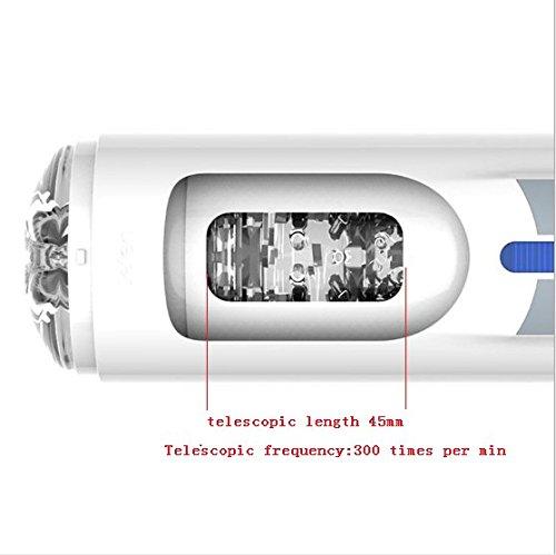 Fovel Masturbator Pussy und Ass , Erotik Sexspielzeug für männer bietet eine intensive Erfahrung 10 Frequenz 5 Geschwindigkeit(Weiß) Länge: 18 cm, Innendurchmesser : 5CM - 4