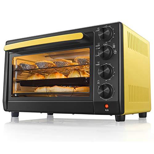 Haushalts-Multifunktionsofen, 35l Mini-Ofen Mit KrüMelschublade, 360 ° Drehbarer Grill/ExplosionsgeschüTzte Beleuchtung/Explosionssichere GlastüR