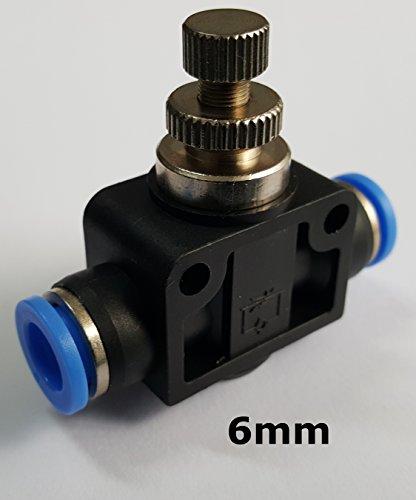 Drosselrückschlagventil mit Steckanschluss - Schnellsteckverbinder - PUSH IN ( 6mm )