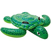 Intex Lil' Sea Turtle Ride On 1.50m x 1.27m Swimming Pool Beach Toy #57524NP