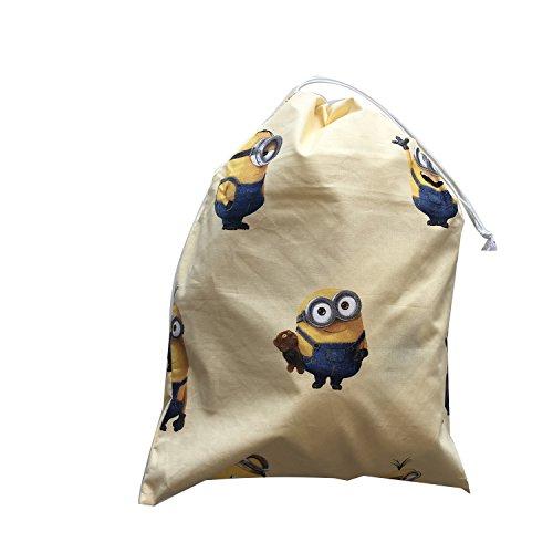 Sacchetto asilo - minions giallo- 46x60 cm porta indumenti