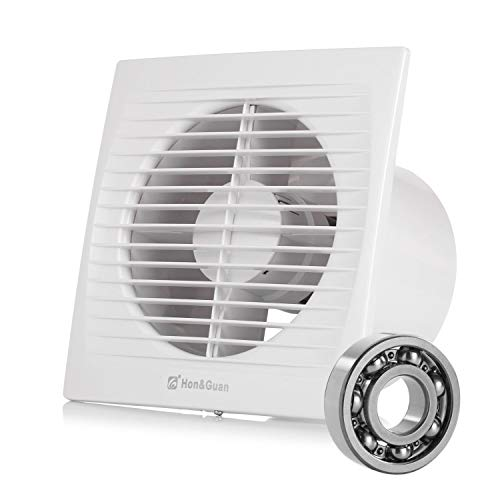 Hon&Guan 150mm Ventilador Extractor de Aire Silencioso 295m³/h para Oficina, Baño, Dormitorio