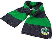 Harry Potter Slytherin Hogwarts House Sciarpa invernale (verde smeraldo e grigio, bambini)
