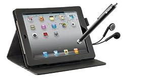 NGS inertie, l'ultime élégante et pratique iPad Mini Kit doté d'un couvercle de protection solide, stylet, 2 x protections d'écran et la qualité des écouteurs avec microphone. La housse dispose de 3 niveaux d'inclinaison rendant confortable à utilise...