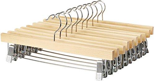 AmazonBasics - Perchas madera pinzas - Pack 10
