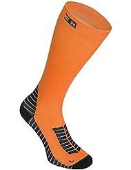 Compression Run Función Calcetines kompressionsstrümpf 1Pak Ciclismo Running Fitness, Color Naranja - 1 Pack Orange, tamaño 43-46