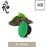 48 Cápsulas de té compatibles Dolce Gusto aroma de té Verde, 48 Cápsulas compatibles con máquinas Dolce Gusto, Paquete de 3x16 por un total de 48 Cápsulas - MyRistretto
