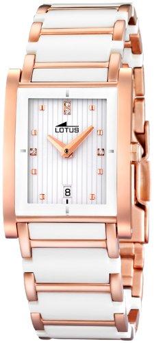 Lotus 15586/1 - Reloj de Mujer de Cuarzo, Correa de Acero Inoxidable