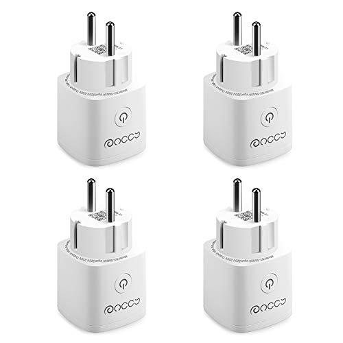 Smarte Steckdose 4er Pack, ANCCY Mini WiFi Steckdose Kompatibel mit Alexa und Google Home, APP Umschaltbare Timer Funktion, Unterstützung 2,4 GHz, 16A