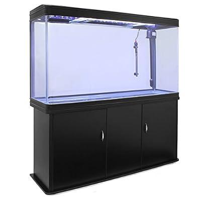 Aquarium MonsterShop, Filtre, Radiateur et Meuble, 4ft, 300L, Noir, 120.5cm x 143.5cm x 39cm