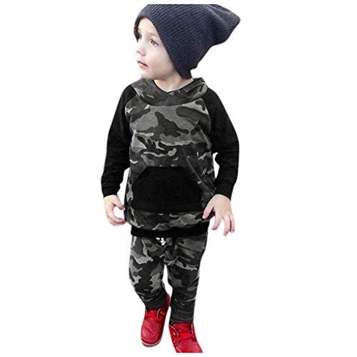 Sport Kostüm Stars 80's - Eternali 5 stücke Säugling Kind Baby Jungen Mädchen Camouflage Hoodie Pullover Sweatshirt Tops Camo Hosen Böden Bekleidung Suit Sport Trainingsanzug